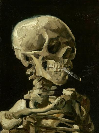 vincent-van-goh-squelette-fumant
